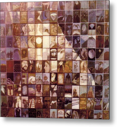 Mosaic Metal Print featuring the painting One Hundred And Fifty by James LeGros