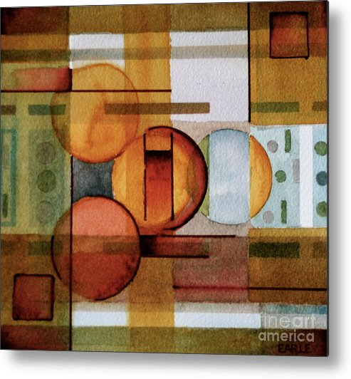 Abstract Metal Print featuring the painting Other Dimensions by Dan Earle