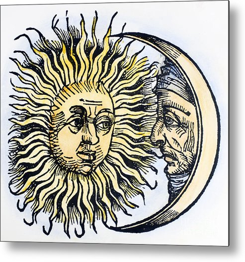 1493 Metal Print featuring the photograph Sun And Moon, 1493 by Granger