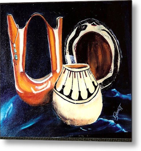 Pottery Metal Print featuring the painting The Wedding Gift 3 by Joan Gossett