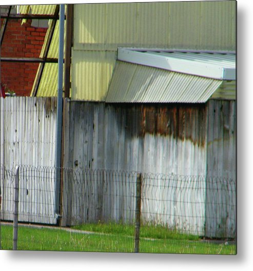 Abstract Metal Print featuring the photograph Yellow Building by Lenore Senior