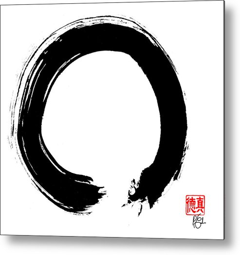 Enso Metal Print featuring the painting Zen Circle Five by Peter Cutler