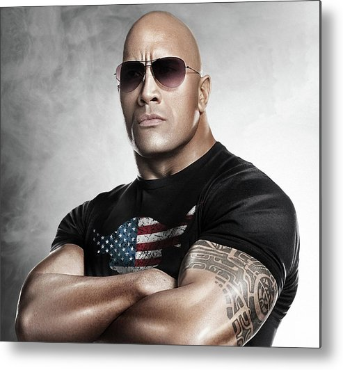 The Rock Metal Print featuring the photograph The Rock Dwayne Johnson I I by Movie Poster Prints