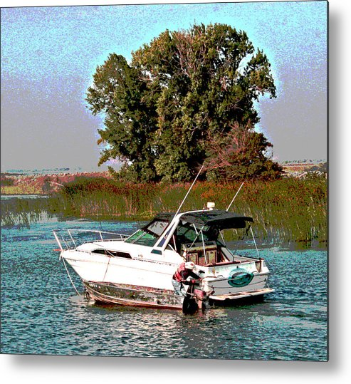 Sacramento River Delta Metal Print featuring the photograph A Friendly Assist by Joseph Coulombe