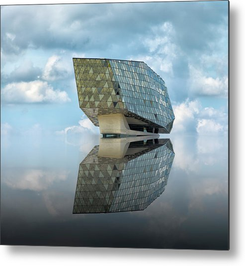 Architecture Metal Print featuring the photograph Mirage by Greetje Van Son