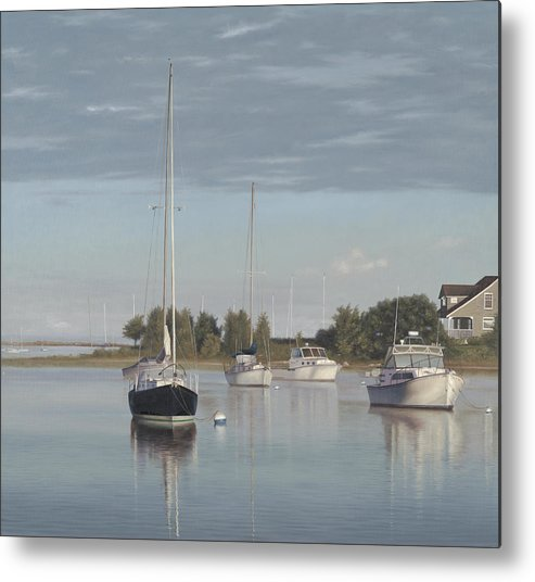Cape Cod Metal Print featuring the painting Morning Calm by Julia O'Malley-Keyes