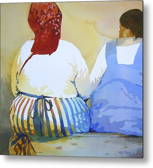 Kris Parins Metal Print featuring the painting Muchachas by Kris Parins