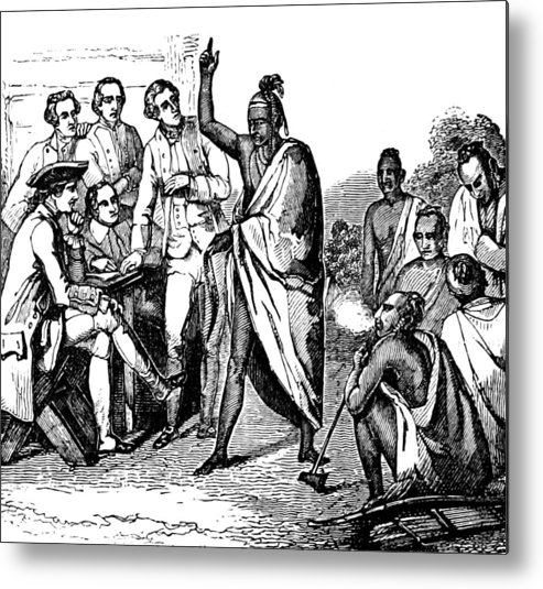 Treaty With Iroquois Indians Five Metal Print