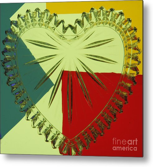 Abstract Metal Print featuring the photograph Valentine by Irene Dowdy