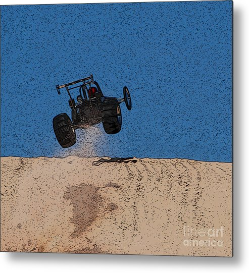 Silver Lake Sand Dunes Metal Print featuring the photograph Dune Buggy Jump by Grace Grogan