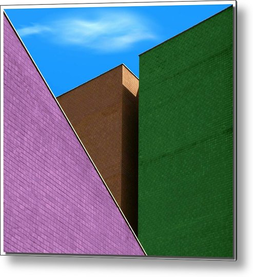 Horizontal Metal Print featuring the photograph Cubism And Colors In The City by Nespyxel