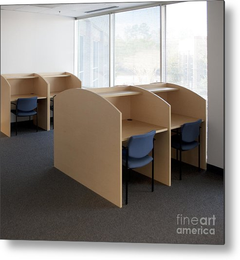 Architecture Metal Print featuring the photograph Empty Carrels by Will & Deni McIntyre