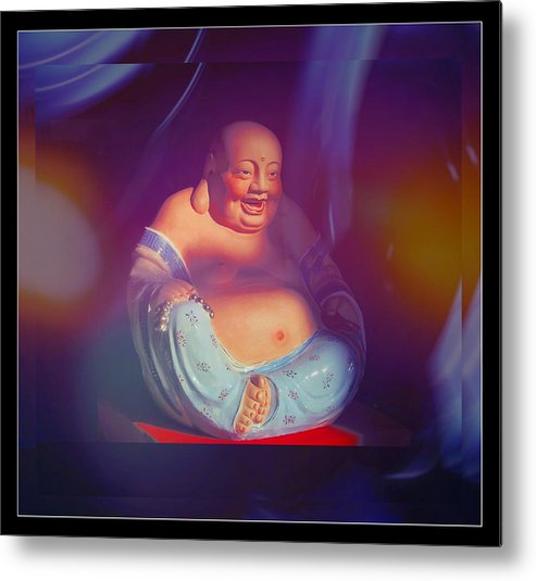 Buddhas Metal Print featuring the photograph Little Buddha - 1 by Larry Mulvehill