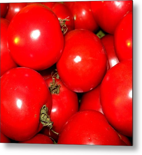 Food Metal Print featuring the photograph Red Beauties by Janice Robertson
