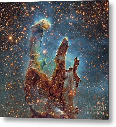 Eagle Nebula Metal Print featuring the photograph Messier 16, The Eagle Nebula In Serpens by Robert Gendler