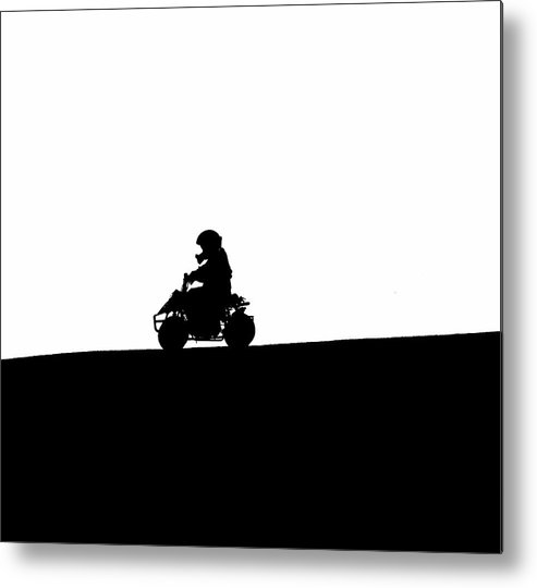 Abstract Art Metal Print featuring the photograph A Boy And His Toy Abstract by Kami McKeon