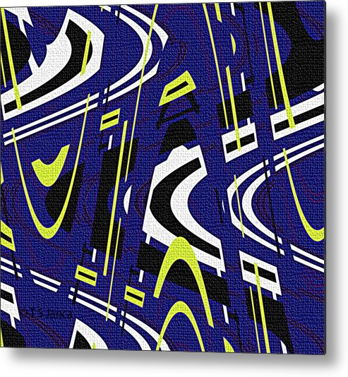 Blue Drawing Abstract Metal Print featuring the photograph Blue Drawing Abstract by Tom Janca