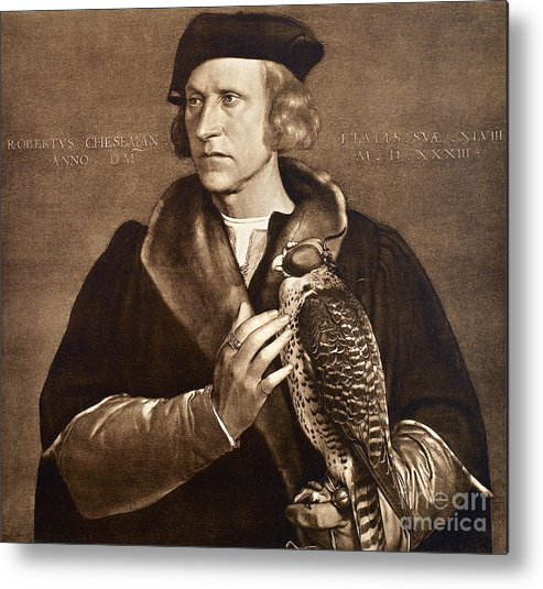 1533 Metal Print featuring the photograph Holbein: Falconer, 1533 by Granger
