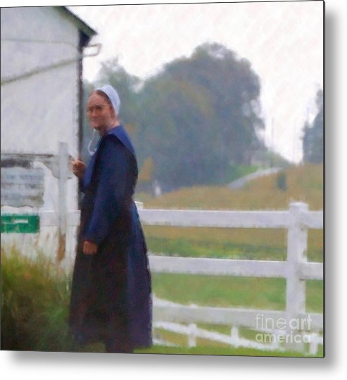 Amish Metal Print featuring the photograph Simple Living by Debbi Granruth