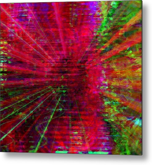 Fania Simon Metal Print featuring the mixed media Switched On by Fania Simon