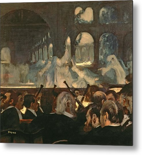 The Metal Print featuring the painting The Ballet Scene From Meyerbeer's Opera Robert Le Diable by Edgar Degas