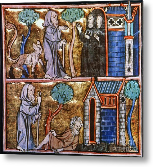 14th Century Metal Print featuring the photograph Travels Of Merlin by Granger