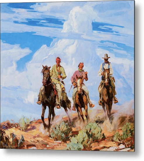 Carl Oscar Borg Metal Print featuring the photograph Sons Of The Desert by Carl Oscar Borg