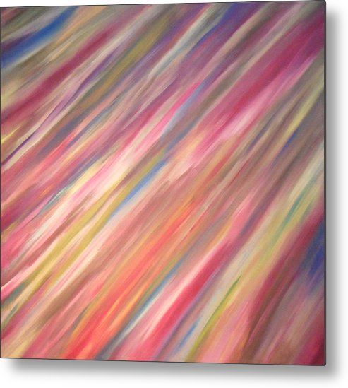 Abstract Metal Print featuring the painting Colyc by Cyryn Fyrcyd