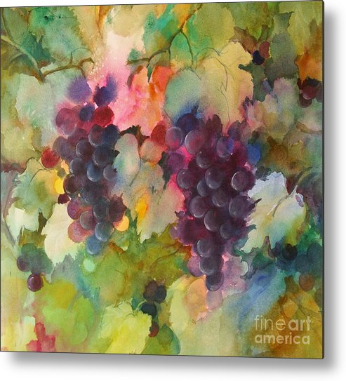 Grapes Metal Print featuring the painting Grapes In Light by Michelle Abrams