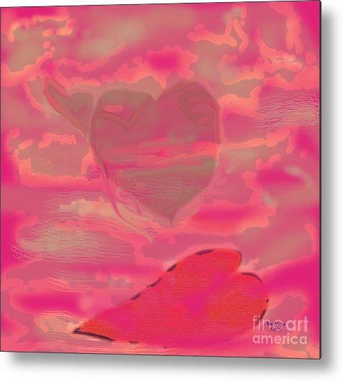 Christian Metal Print featuring the digital art I Lay Down My Heart by Terri Johnson