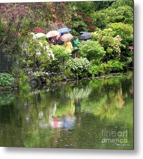 Metal Print featuring the photograph Reflections Of A Rainy Day by Mel Hart
