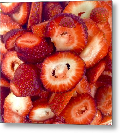 Strawberries Metal Print featuring the photograph Summer Strawberries by Jeszy Arnold