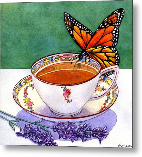 Butterfly Metal Print featuring the painting Sweet by Catherine G McElroy