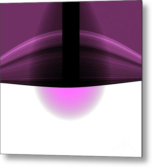 Metal Print featuring the digital art The Lamp by Mihaela Stancu