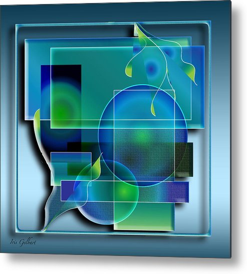 Abstract Metal Print featuring the digital art Relaxation by Iris Gelbart