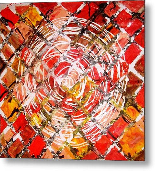 Circle Metal Print featuring the painting Life In Circle by Baljit Chadha