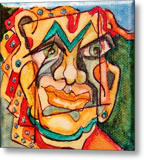 Abstract Portrait Metal Print featuring the painting A Cast Of Characters Four by Dan Earle