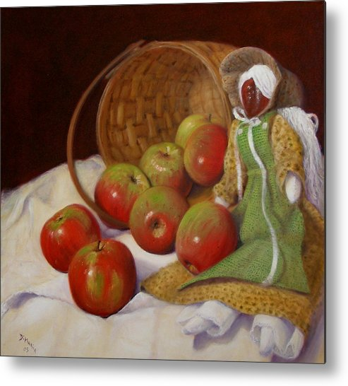 Realism Metal Print featuring the painting Apple Annie by Donelli DiMaria