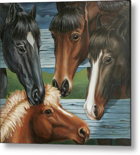 Pony Metal Print featuring the painting Claras Pony by Colleen Maas-Pastore