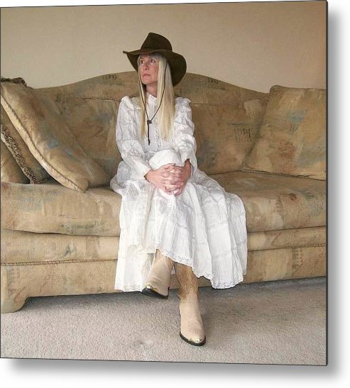 Portrait Metal Print featuring the photograph Donna 1 by Kathleen Heese