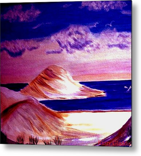 Sand Dunes Metal Print featuring the painting Dunes by Rusty Gladdish