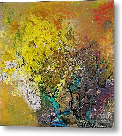Miki Metal Print featuring the painting Fantaspray 13 1 by Miki De Goodaboom