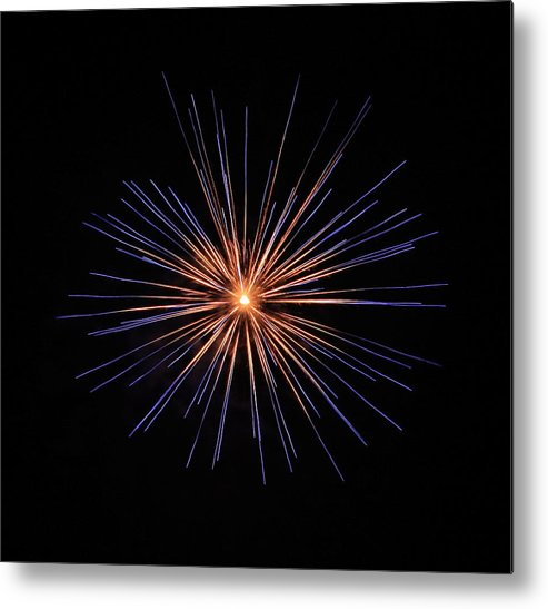 Fireworks Metal Print featuring the photograph Fireworks Two by Kenna Westerman