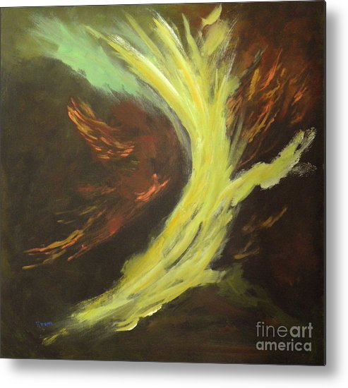 Abstract Metal Print featuring the painting His Almighty Power by Rhonda Myers