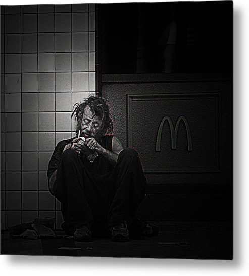 Homeless Metal Print featuring the photograph Homeless In Los Angeles by LoungeMode Production Art