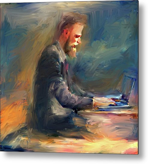 Symbol Metal Print featuring the digital art Non Stop Business by Yury Malkov