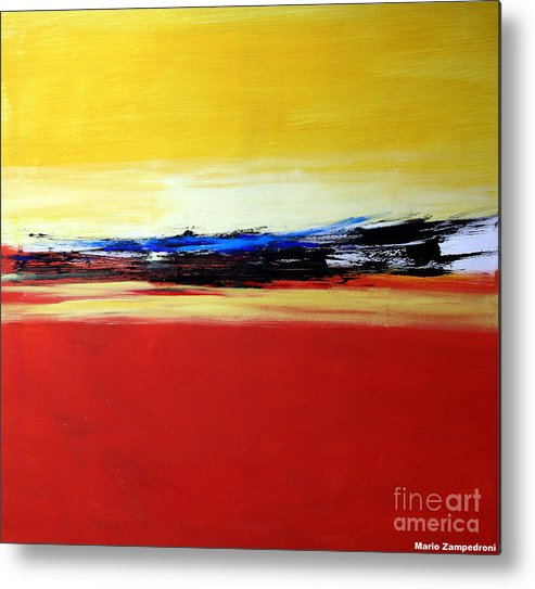 Abstract Metal Print featuring the painting Summer by Mario Zampedroni