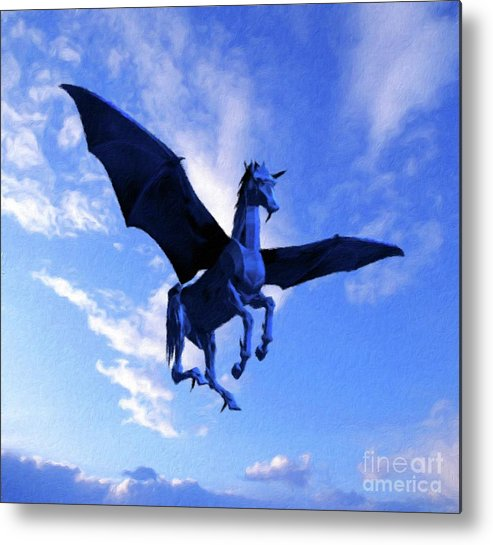 Wings Metal Print featuring the painting The Winged Horse by Pierre Blanchard