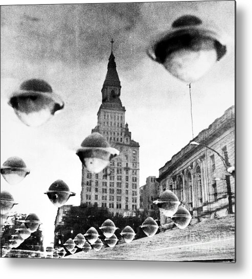 1960 Metal Print featuring the photograph Travelers Insurance Tower by Granger