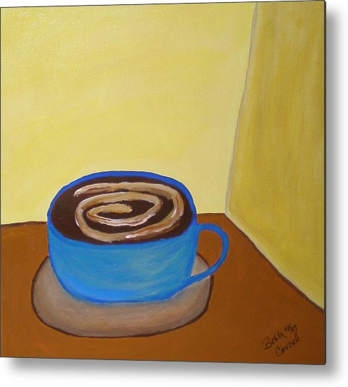 Universal Mocha Metal Print featuring the painting Universal Mocha by Beth Cornell